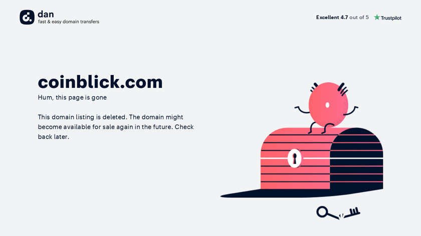 CoinBlick Landing Page