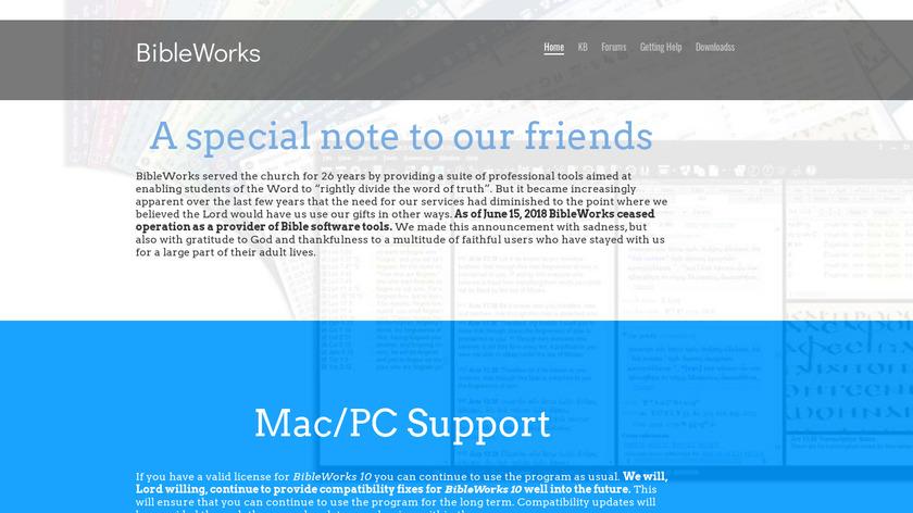 BibleWorks Landing Page
