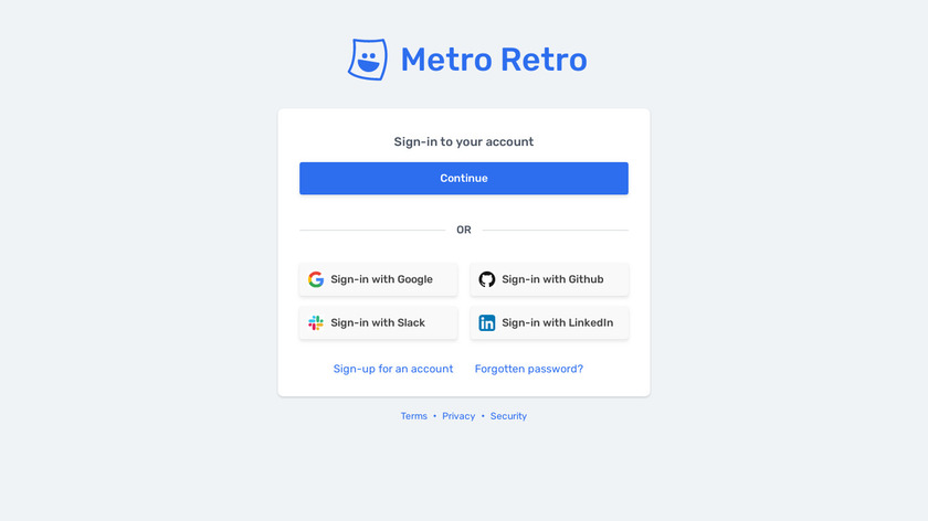 Metro Retro Landing Page