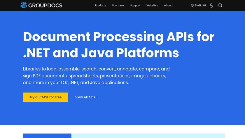 GroupDocs Landing Page