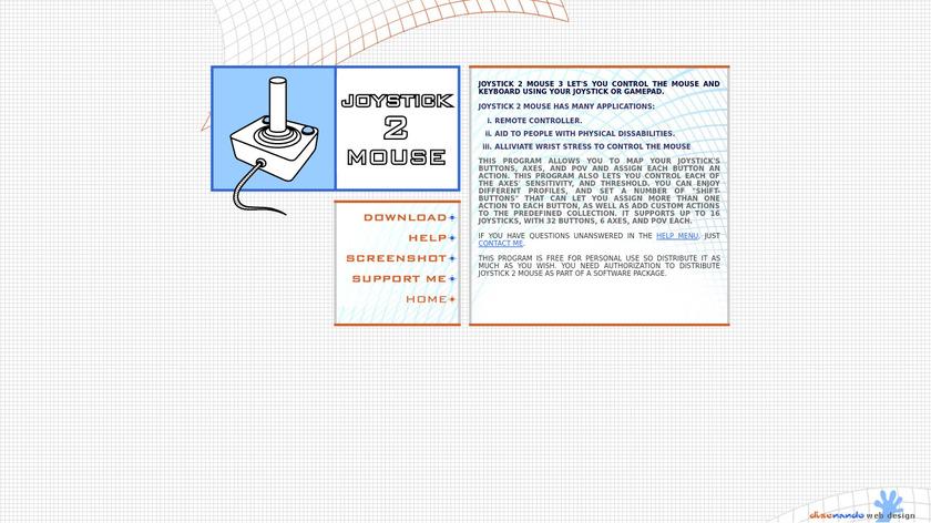 Joystick 2 Mouse Landing Page