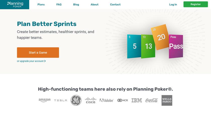 Planning Poker Landing Page