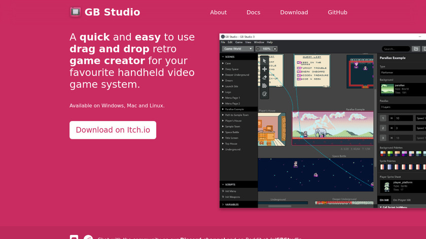 GB Studio Landing Page