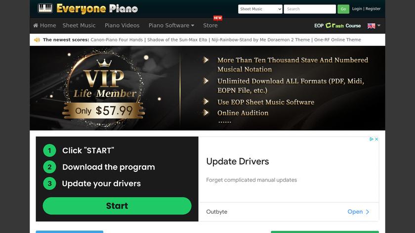 EveryonePiano Landing Page