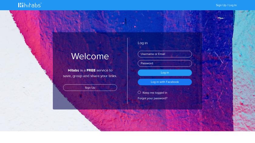 Hitabs Landing Page