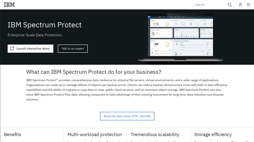 IBM Spectrum Protect Landing Page