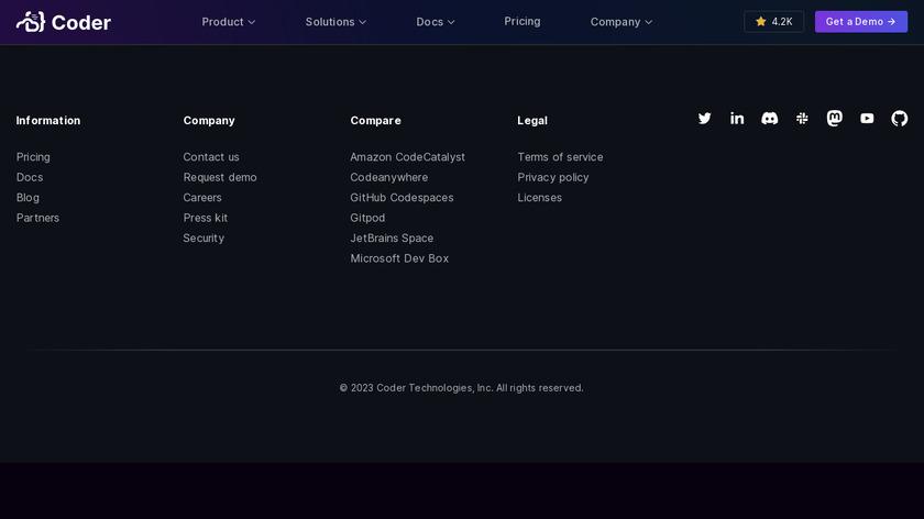 Coder Landing Page