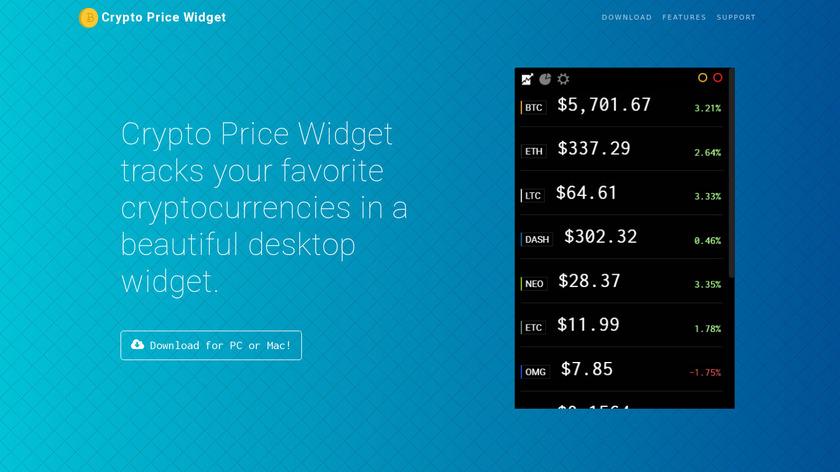Crypto Price Widget Landing Page