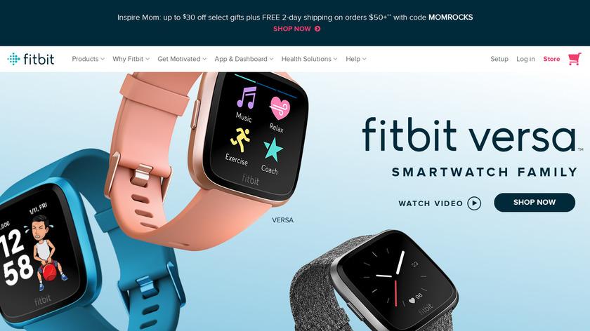 Fitbit Blaze Landing Page