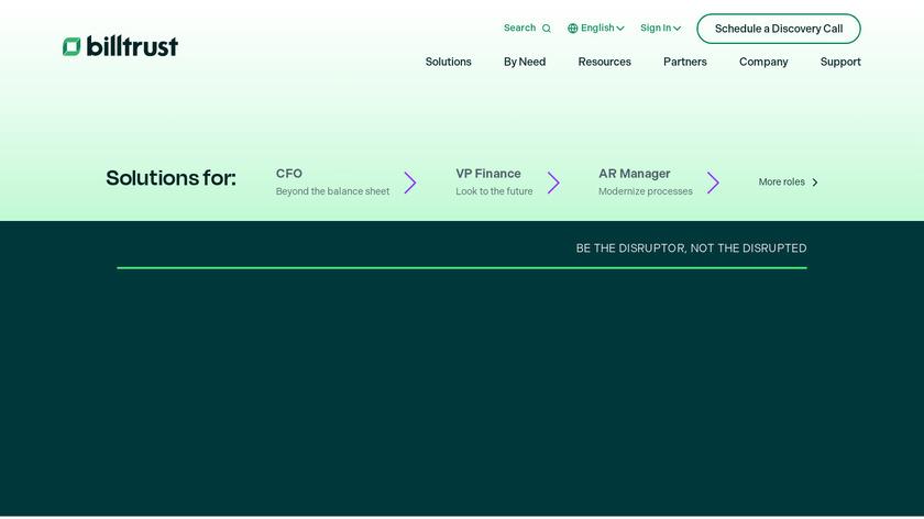 Billtrust Landing Page