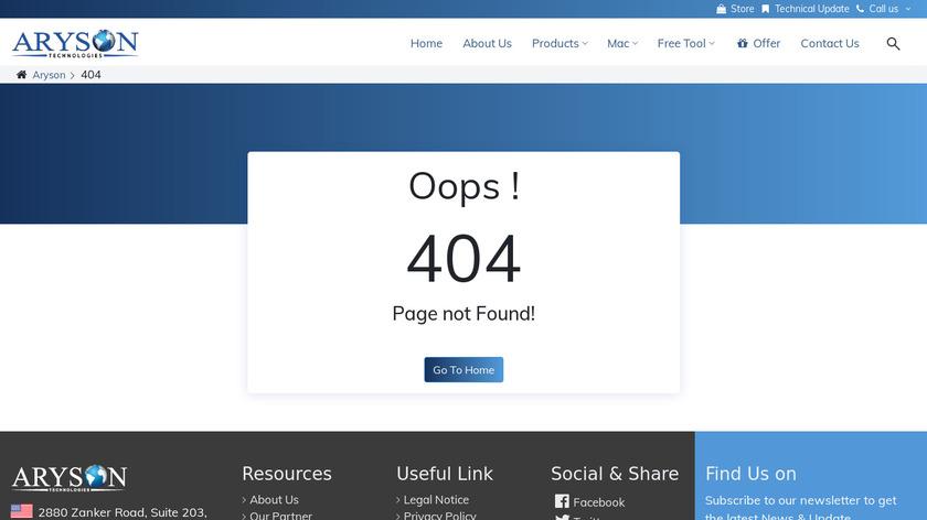 Aryson PDF Unlocker Landing Page