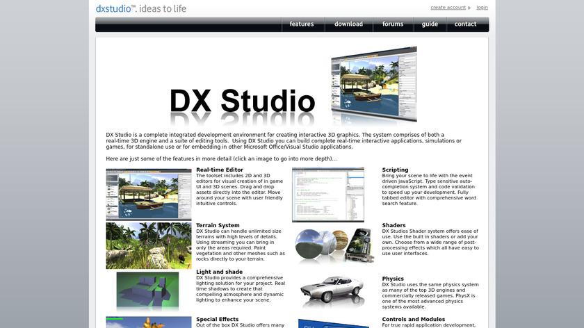 DX Studio Landing Page