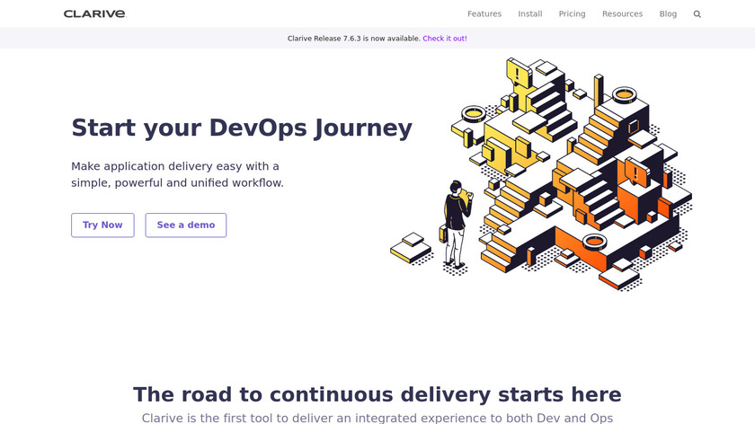 Clarive Software Landing Page