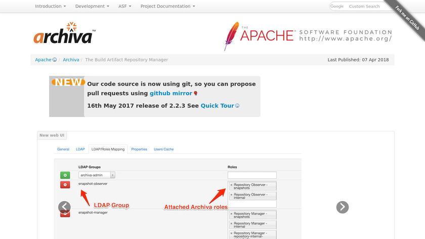 Apache Archiva Landing Page