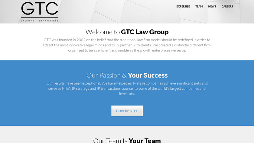 GTC Law Group Landing Page