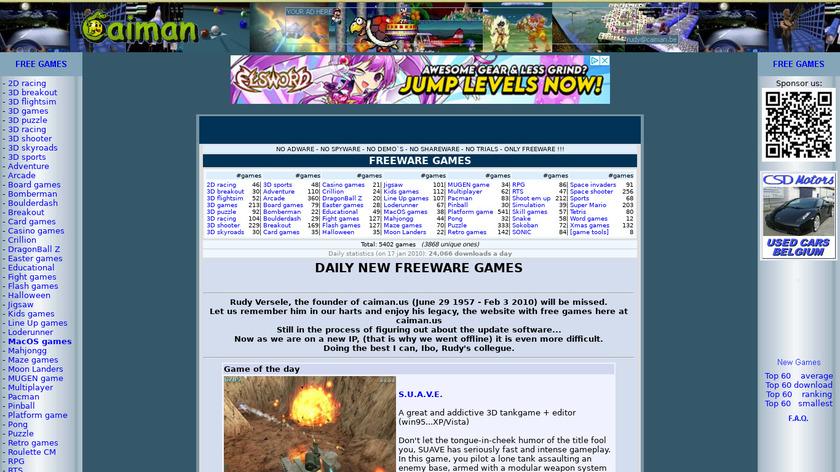 Caiman.us Landing Page