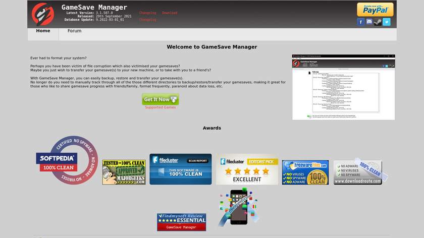 GameSave Manager Landing Page