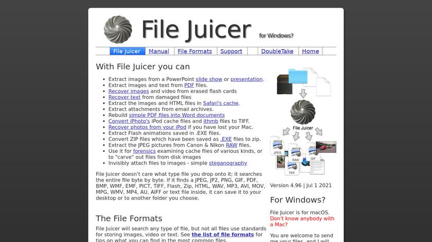File Juicer Landing Page