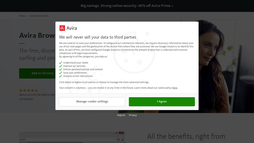 Avira Browser Safety Landing Page