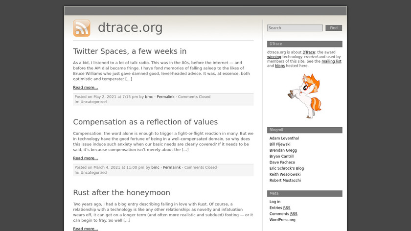 DTrace Landing Page
