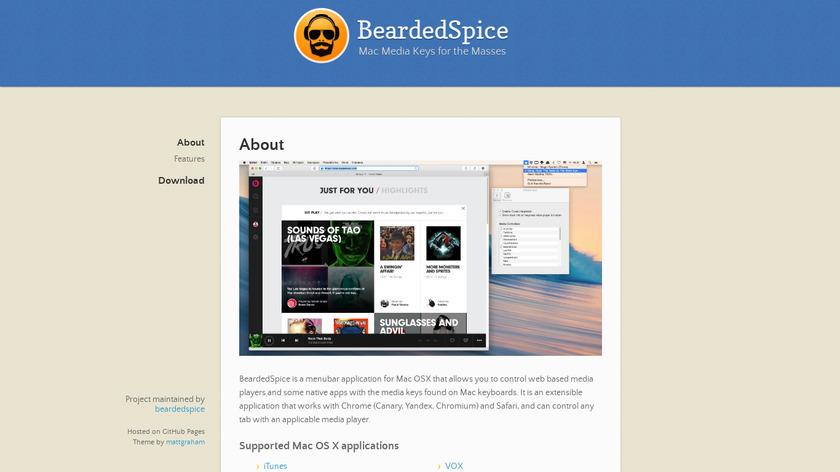 BeardedSpice Landing Page
