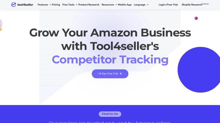 Tool4seller Landing Page