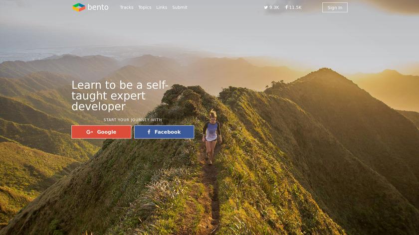 Bento.io Landing Page