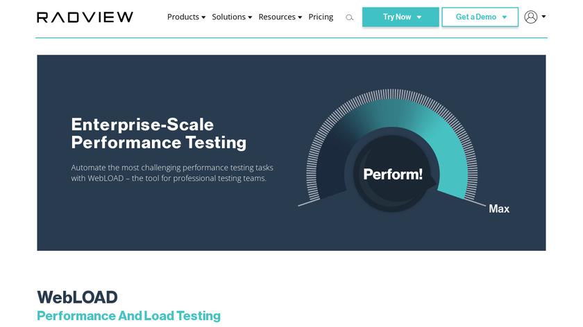 WebLOAD Landing Page