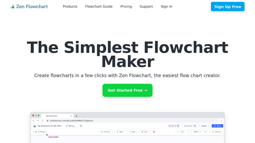 Zen Flowchart Landing Page