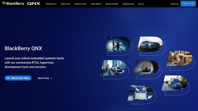 BlackBerry QNX Landing Page