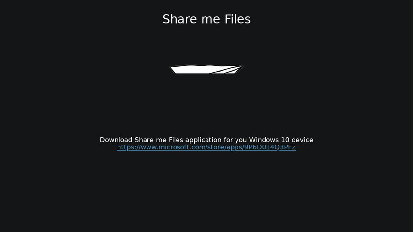 Share me Files Landing Page