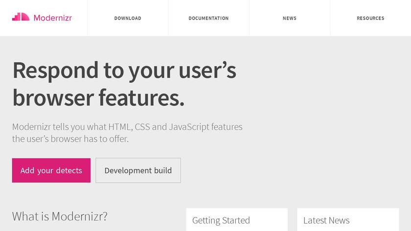 Modernizr Landing Page