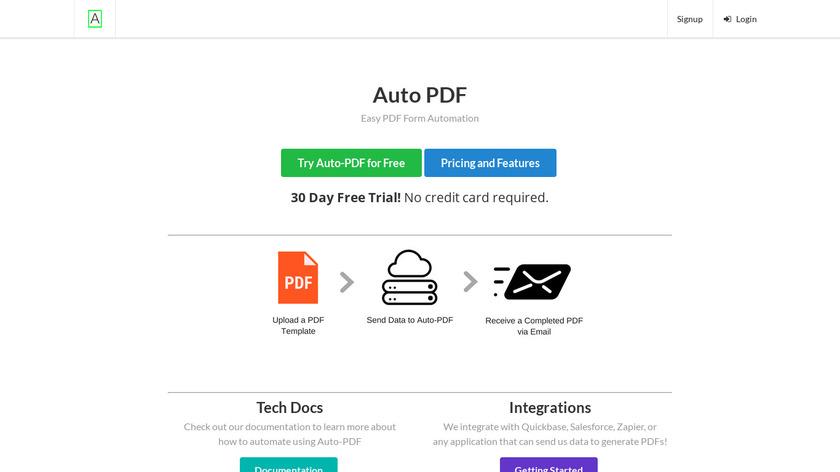 Auto-PDF Landing Page