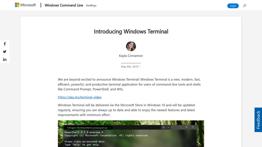 Windows Terminal Landing Page
