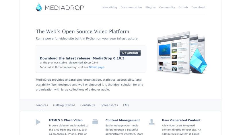 MediaDrop Landing Page