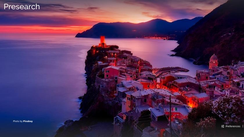 Presearch Landing Page