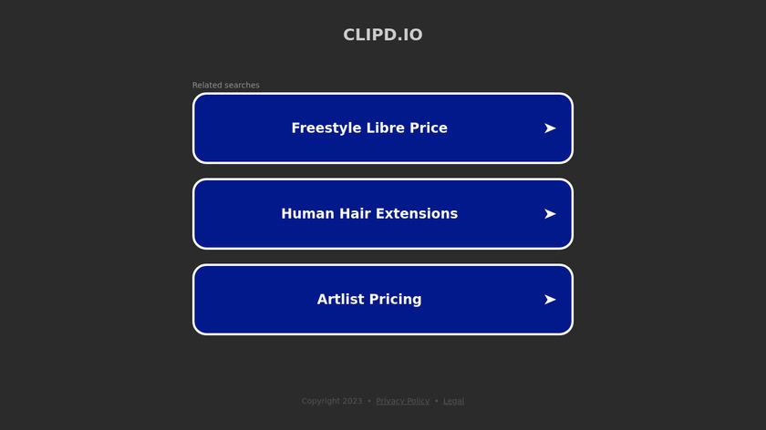 Clipd.io Landing Page