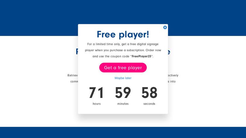 Retriever Digital Signage Landing Page