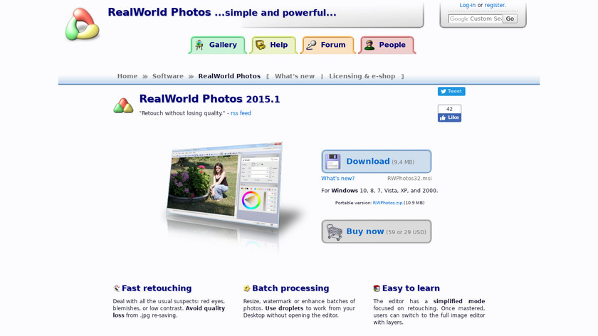 RealWorld Photos Landing Page