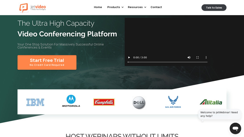 JetWebinar Landing Page