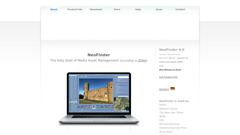 NeoFinder Landing Page