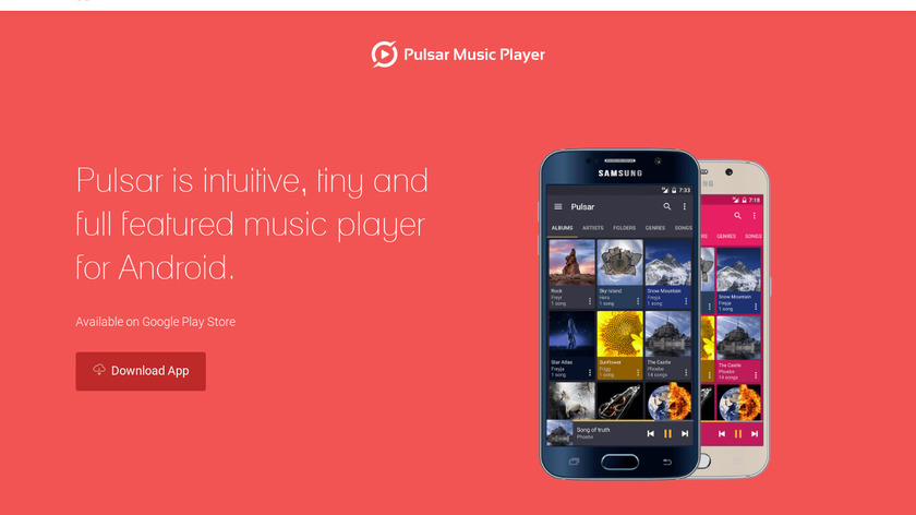 Pulsar Music Player Landing Page