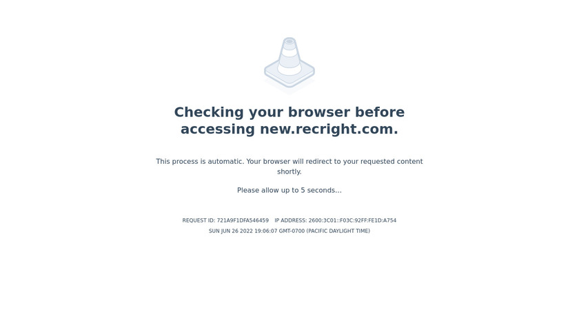 RecRight Landing Page