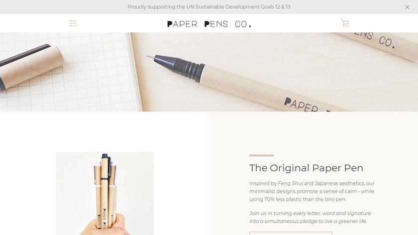 The Paper Pen Landing Page