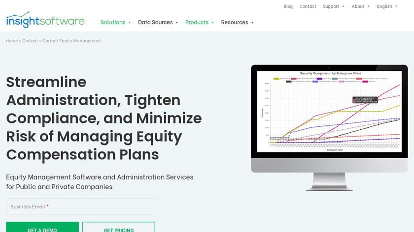 Certent Equity Compensation Management Landing Page