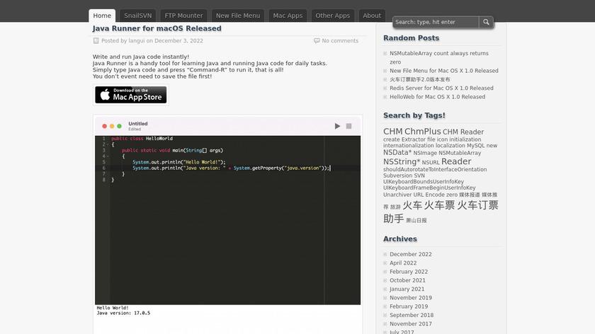 SnailSVN Landing Page