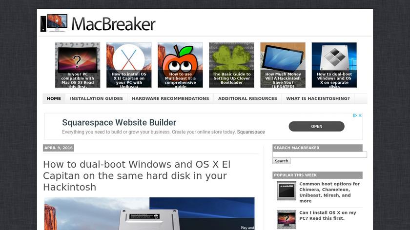 MacBreaker Landing Page
