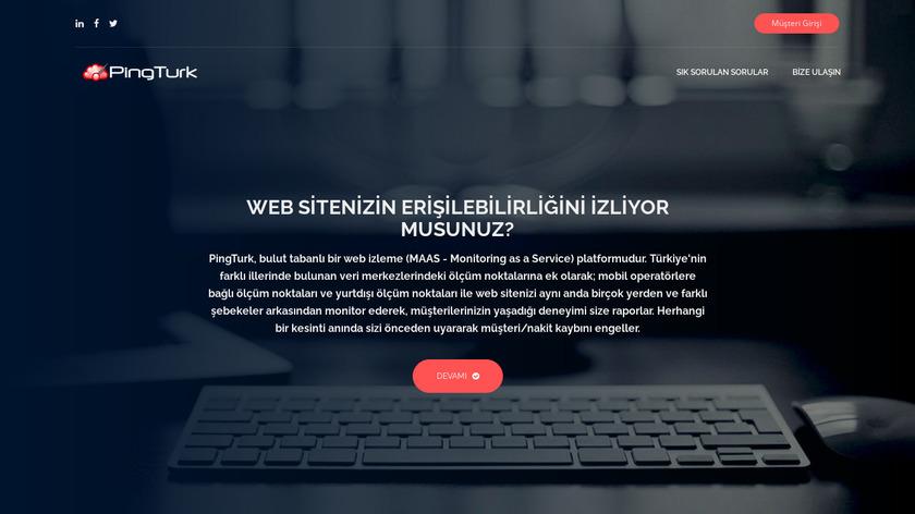 PingTurk Landing Page