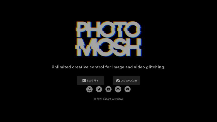 Photomosh Landing Page