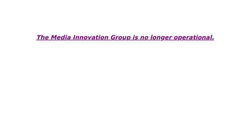 Media Innovation Group Landing Page
